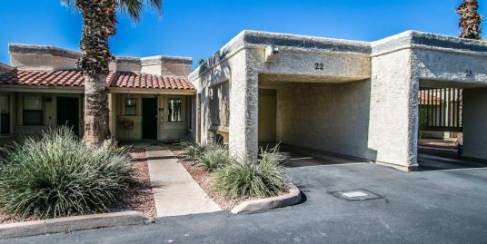 Furnished 2 bedroom/2 bath condo features AZ red walls and tile floors throughout
